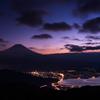 夕闇の富士