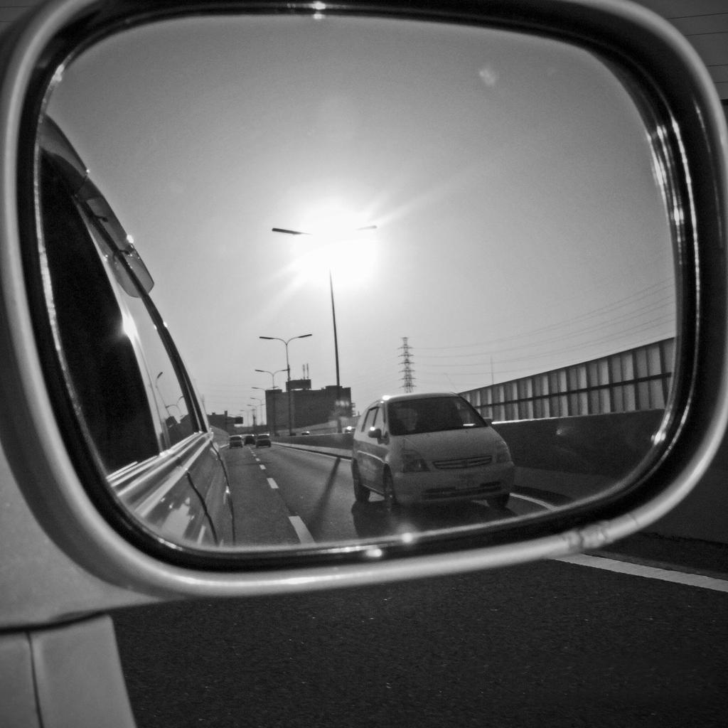 鏡の中の落日