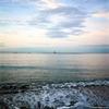 朝 夏の海