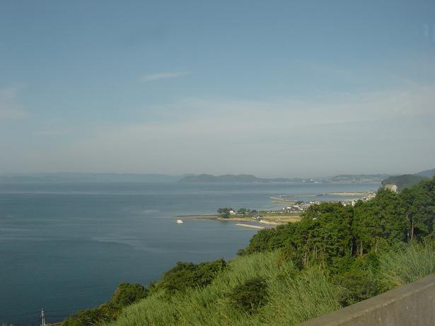 ★長崎 移動中バスの中より海2