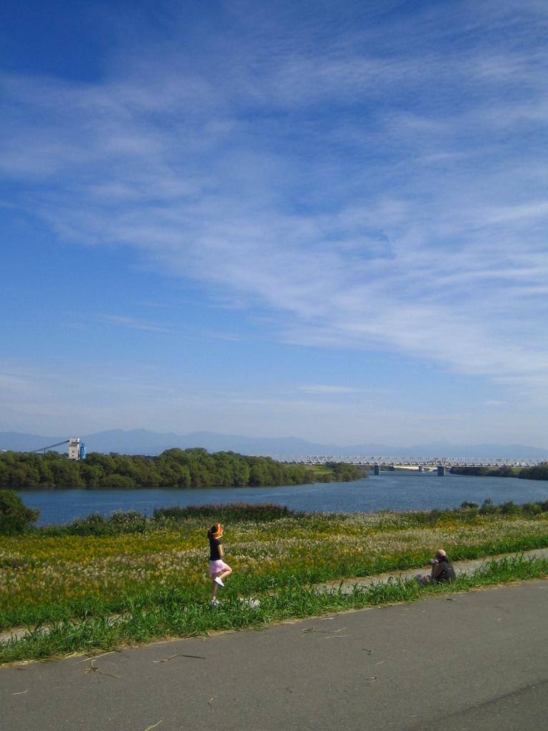 川辺のマラソン