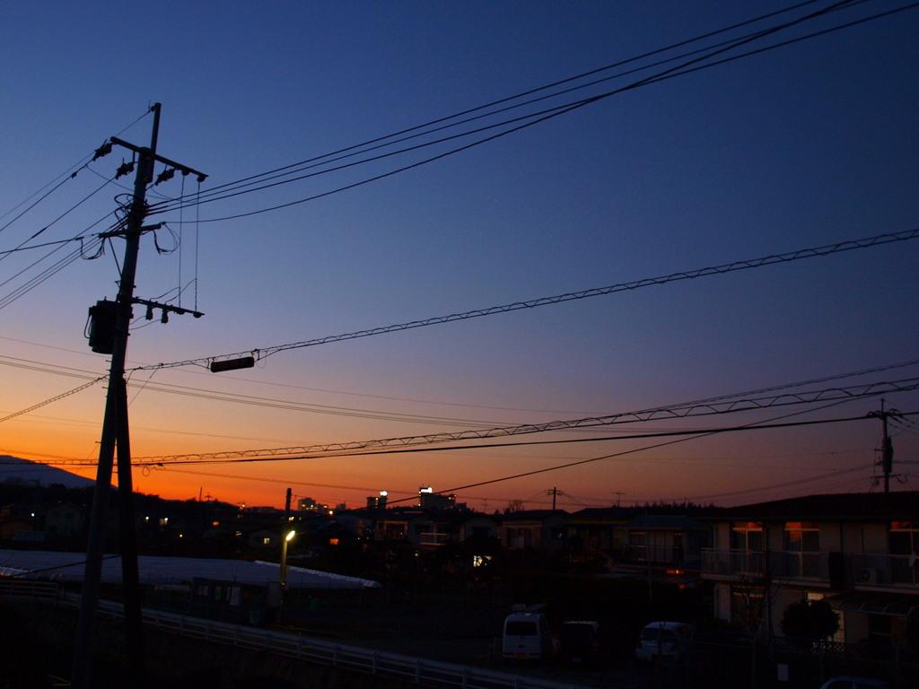 夕焼け色の街
