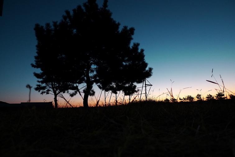 日の出の前