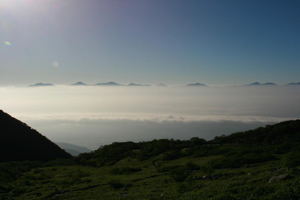 駒ケ岳よりのぞむ富士山