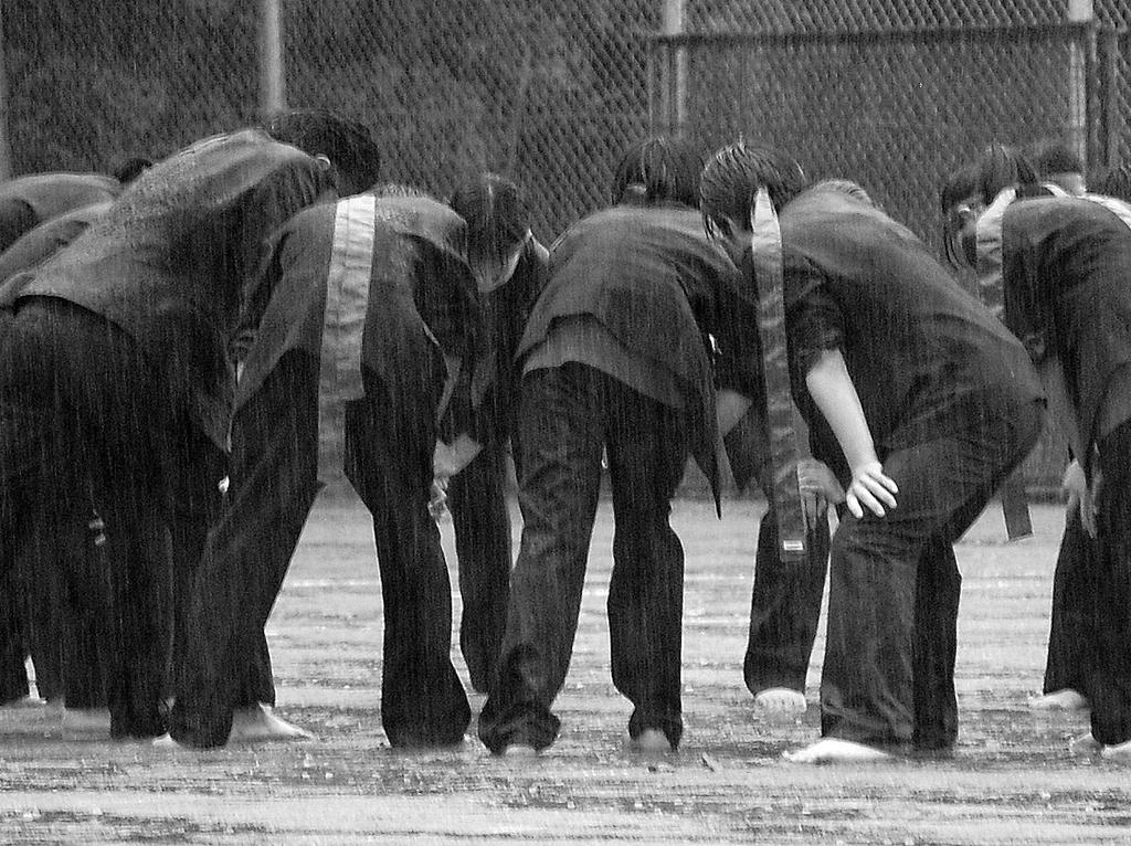 雨の運動会