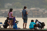 家族で釣り
