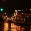 雨の小樽市内