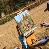 落柿舎を描く