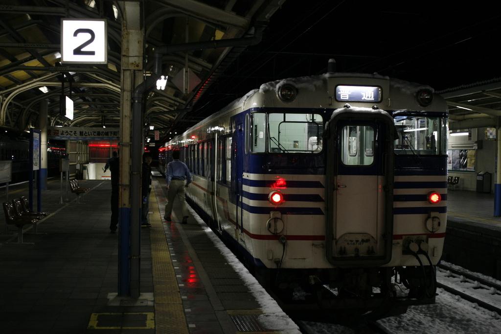 冬の始発電車
