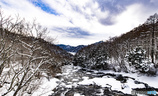 2月の日光(龍頭の滝上)