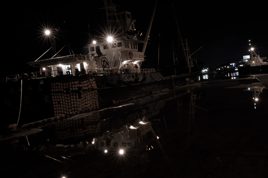 Night of wharf