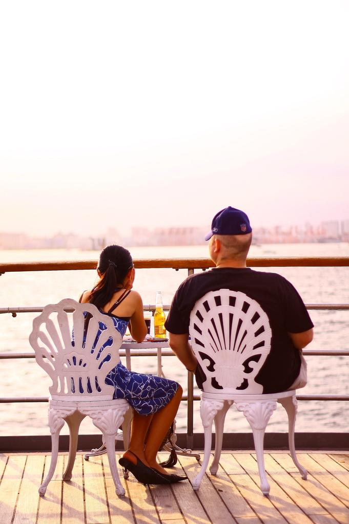 船から眺める。夏。