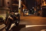 夜道とポツンとBike