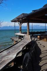 琵琶湖を見ながら