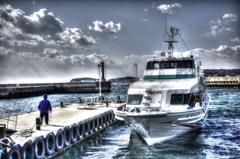 『日間賀島 西港』