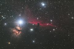 玄関先から馬頭星雲