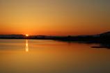 鳥屋野潟日の出