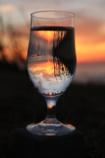 コップの中の夕日