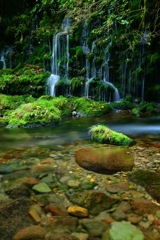 Clear spring water...