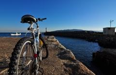 サイクリングの途中で。