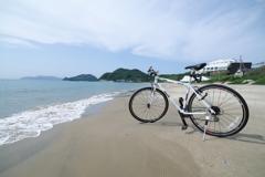 勝浦浜の波