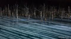 青い池 Line of shadow