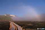 至仏山にかかる白い虹