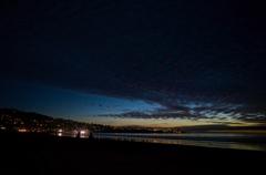 日没後のラホヤの街