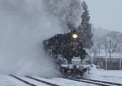 雪の真岡鉄道