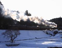 真岡鉄道 雪景色