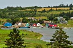 小さな漁村の見える風景