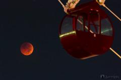 月とゴンドラ 【2018 皆既月食】