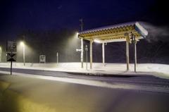 瀬見温泉駅 冬
