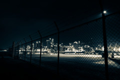 Factory night view