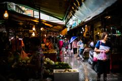 雨の市場 台北市大同區