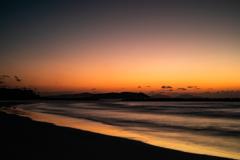 綾羅木海岸夕景
