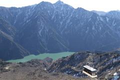 立山ロープウェイと黒部湖