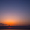 Sunset cruising in the sky