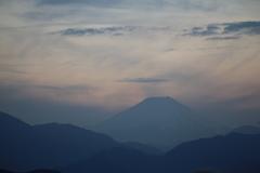 高尾山頂より富士