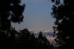 東京夜景 高尾山頂より