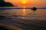 休日と夕陽