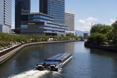 大阪城公園とOBPの境界 第二寝屋川