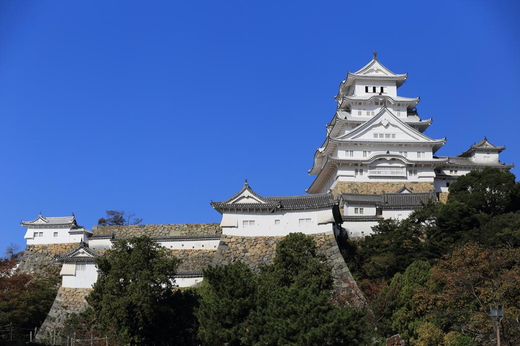 秋晴れの姫路城