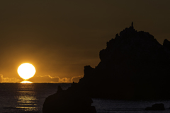 「達磨朝陽と弥八島」