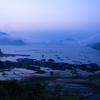 夜明け前の日引の棚田