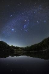 なごり雪のように星が降る水面