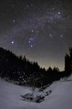 Winter starry sky of February