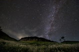 屏風岩と秋の星空