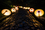 大山夏祭り お盆の大献灯 和傘灯り*4