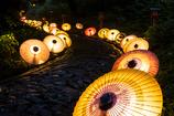大山夏祭り お盆の大献灯 和傘灯り*3